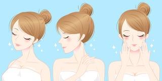 Mujer del skincare de la belleza stock de ilustración
