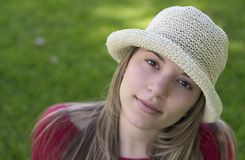 Mujer del sombrero Fotografía de archivo