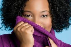 Mujer del suéter del invierno Imagen de archivo libre de regalías