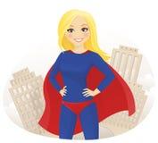 Mujer del superhéroe stock de ilustración