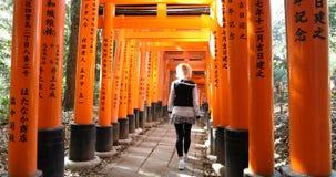 Mujer del taisha de Fushimi Inari Fotos de archivo libres de regalías