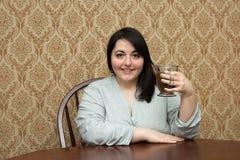 Mujer del tamaño extra grande Foto de archivo libre de regalías