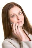 Mujer del teléfono Foto de archivo libre de regalías
