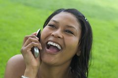 Mujer del teléfono imagen de archivo libre de regalías