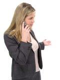Mujer del teléfono celular Fotos de archivo libres de regalías