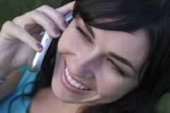 Mujer del teléfono Fotografía de archivo libre de regalías