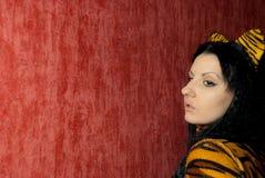 Mujer del tigre Imagenes de archivo