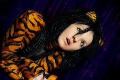 Mujer del tigre Fotografía de archivo