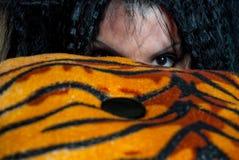 Mujer del tigre Foto de archivo libre de regalías