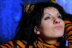 Mujer del tigre Fotos de archivo libres de regalías