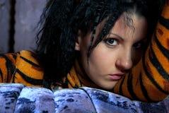 Mujer del tigre Imagen de archivo