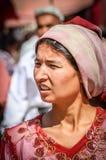 Mujer del Uighur Imagenes de archivo