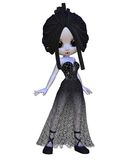 Mujer del vampiro de Toon Víspera de Todos los Santos Fotos de archivo libres de regalías