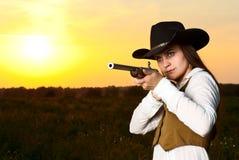 Mujer del vaquero. Foto de archivo libre de regalías