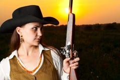 Mujer del vaquero. Imagen de archivo libre de regalías
