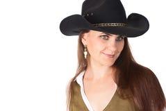 Mujer del vaquero Foto de archivo libre de regalías