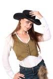 Mujer del vaquero. Fotografía de archivo