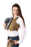 Mujer del vaquero. Imágenes de archivo libres de regalías