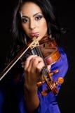 Mujer del violín fotos de archivo