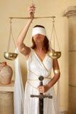 Mujer del zodiaco de las escalas Fotografía de archivo libre de regalías