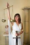 Mujer del zodiaco del libra Imágenes de archivo libres de regalías
