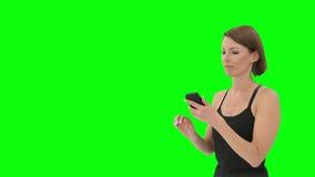 Mujer delante de Nueva York almacen de video