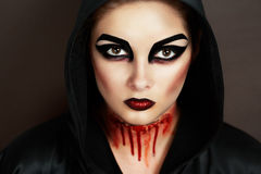 Mujer demoníaca imágenes de archivo libres de regalías