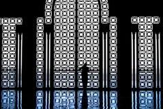 Mujer dentro de la mezquita de rey Hussain - Casablaca - MOR imagen de archivo libre de regalías