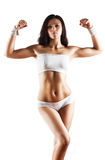 Mujer deportiva atractiva joven Imagen de archivo
