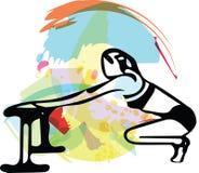 Mujer deportiva hermosa del ajuste libre illustration