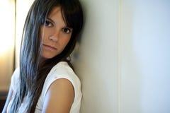 Mujer deprimida Fotografía de archivo libre de regalías