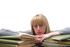 Mujer deprimida Fotos de archivo