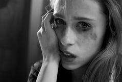 Mujer deprimida Fotos de archivo libres de regalías