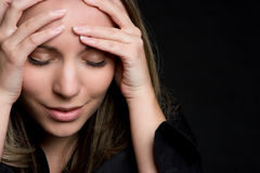 Mujer deprimida Foto de archivo libre de regalías