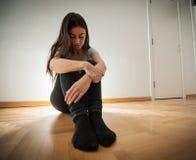 Mujer deprimida de la depresión Fotografía de archivo
