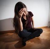 Mujer deprimida de la depresión Imagen de archivo