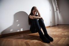 Mujer deprimida de la depresión Foto de archivo
