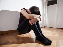 Mujer deprimida de la depresión Foto de archivo libre de regalías