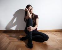 Mujer deprimida de la depresión Fotos de archivo libres de regalías