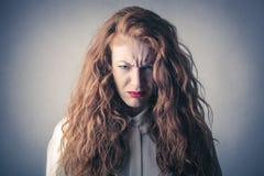 Mujer desesperada y enojada imagen de archivo libre de regalías