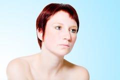 mujer desinteresada Imagen de archivo