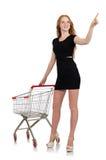 Mujer después de hacer compras stock de ilustración