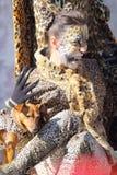 Mujer disfrazada como leopardo durante el carnaval de Venecia Fotos de archivo libres de regalías