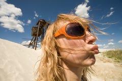 Mujer divertida Imágenes de archivo libres de regalías