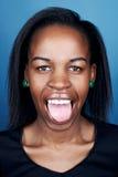 Mujer divertida del africano de la cara imagen de archivo libre de regalías
