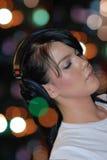 Mujer DJ Foto de archivo