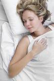 Mujer dormida foto de archivo libre de regalías