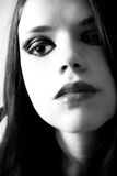 Mujer dramática del maquillaje Imagenes de archivo