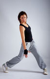 Mujer durante su danza del rnb Fotografía de archivo libre de regalías