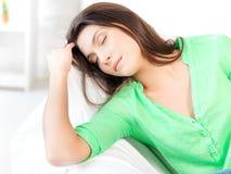 Mujer durmiente Fotografía de archivo